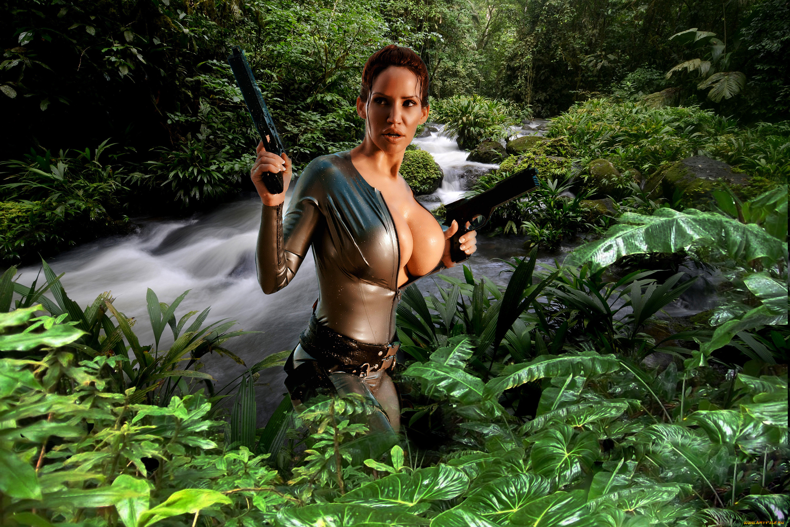 3d lara croft in trouble adult image